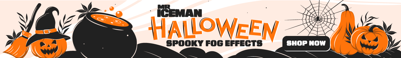 Mr Iceman Halloween Shop Banner